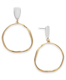 Two-Tone Circle Drop Earrings, Created for Macy's