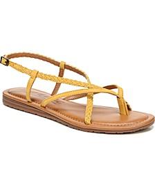 Yovana Braided Strappy Flat Sandals