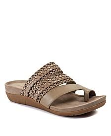 Jonelle Slip-On Woven Sandals