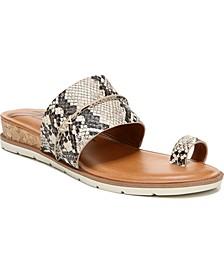 Adelanto Toe-Ring Demi-Wedge Sandals