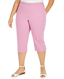 Plus Size Petal Pushers Capri Pants