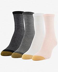 GOLDTOE® Women's 4-Pk. Shimmer Crew Socks