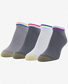 GOLDTOE® Women's 4 Pack Racer Stripe Liner Socks