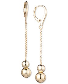 Ball Linear Drop Earrings