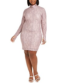 Trendy Plus Size Thumbhole Bodycon Dress, Created for Macy's