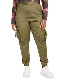 Trendy Plus Size Skinny Cargo Pants, Created for Macy's