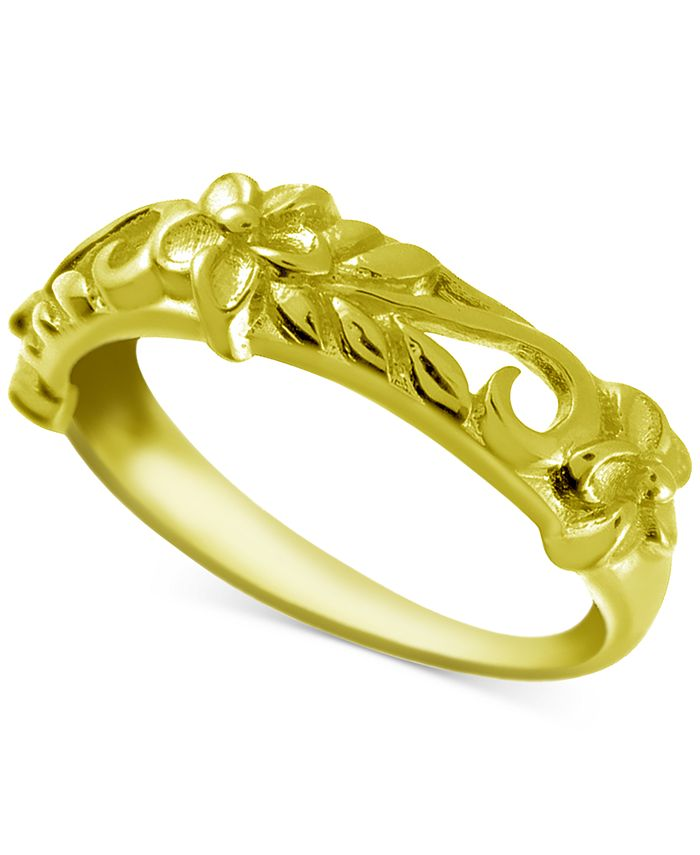 Kona Bay - Decorative Floral Band in Gold-Plate