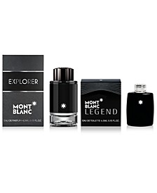 Receive a Complimentary 2-Pc. gift with any large spray purchase from the Montblanc Legend or Montblanc Explorer Fragrance Collection