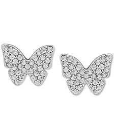 Pavé Butterfly Stud Earrings