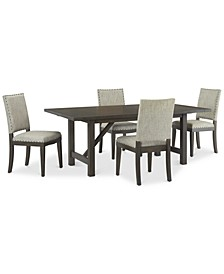 Parker Mocha Dining 5-Pc Set (Table & 4 Side Chairs), Created for Macy's