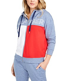 Colorblocked Zip-Up Hoodie