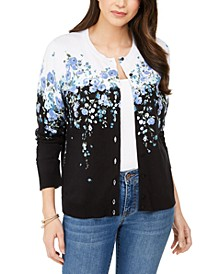 Wisteria Corsage Printed Button Cardigan, Created for Macy's