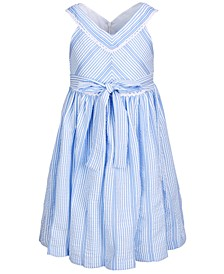Toddler Girls Seersucker Criss-Cross Dress