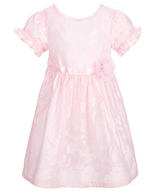 Toddler Girls Pink Satin Burnout Dress