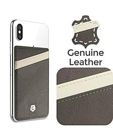 Stick-On Leather Card Holder