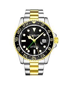 Men's Gold - Silver Tone Stainless Steel Bracelet Watch 42mm