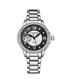 Women's Silver Tone Stainless Steel Bracelet Watch 36mm