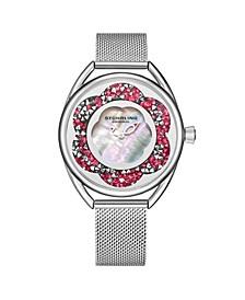 Women's Silver Tone Mesh Stainless Steel Bracelet Watch 38mm