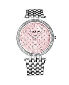 Women's Silver Tone Stainless Steel Bracelet Watch 39mm