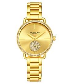 Women's Gold Tone Stainless Steel Bracelet Watch 38mm