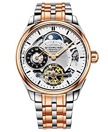 Men's Rose Gold, Silver Tone Stainless Steel Bracelet Watch 42mm