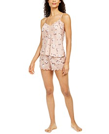 Deidre Lace-Trim Cami & Shorts Pajama Set