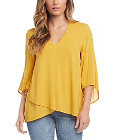 Asymmetrical Layered-Hem Top