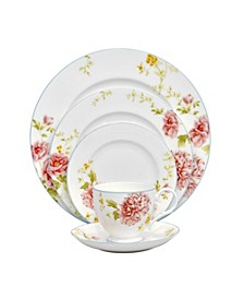 Peony Pageant 5 Piece Place Setting