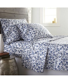 Forevermore Luxury Cotton Sateen 4 Piece Extra Deep Pocket Sheet Set, California King