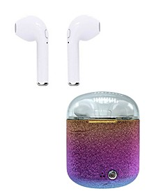 True Wireless Rainbow Bluetooth Earbuds with Portable Charging Case