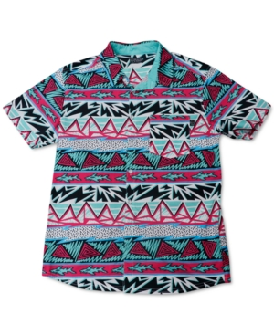 Maui and Sons Men's Hotdogger Woven Stretch Short Sleeve Shirt