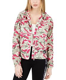 Camo Print Rain Jacket
