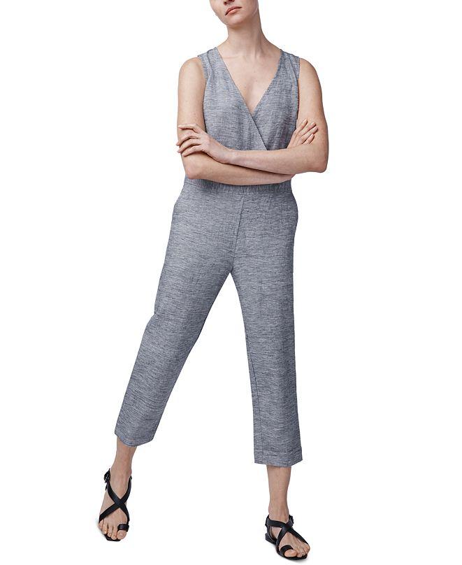 b new york Linen Relaxed Sleeveless Jumpsuit