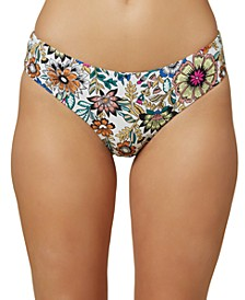 Juniors' Priscilla Printed Hipster Bikini Bottoms
