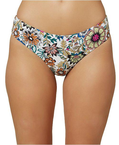 O'Neill Juniors' Priscilla Printed Hipster Bikini Bottoms