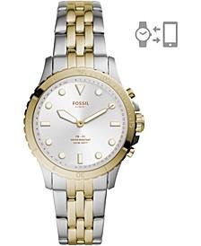 Women's FB-01 Two-Tone Stainless Steel Bracelet Hybrid Smart Watch 36mm