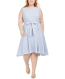 Plus Size High-Low Dress