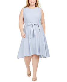 Calvin Klein Plus Size High-Low Dress