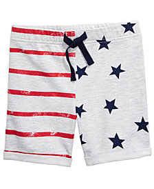 First Impressions Toddler Boys Stars & Stripes Knit Shorts, Created for Macy's