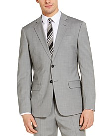 Men's Classic-Fit Light Grey Suit Jacket, Created for Macy's