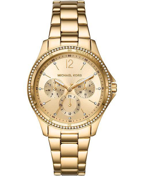 Michael Kors Women's Riley Gold-Tone Stainless Steel Bracelet Watch 39mm