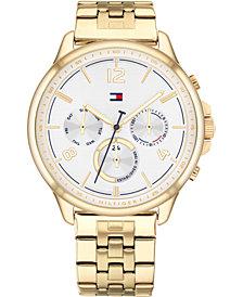 Tommy Hilfiger Women's Chronograph Gold-Tone Bracelet Watch 38mm