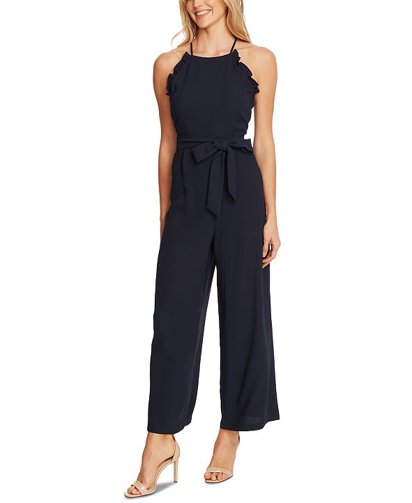 CeCe Ruffled Belted Jumpsuit