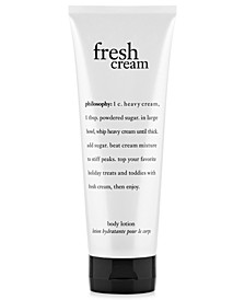 fresh cream body lotion, 7 oz