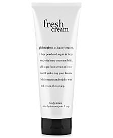 philosophy fresh cream body lotion, 7 oz