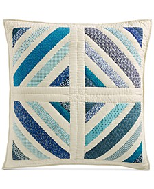 "Artisan Collection Ditsy Diamond Patchwork Quilted 26"" x 26"" European Sham, Created for Macy's"