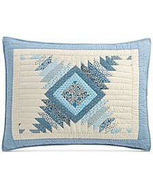 Artisan Bluebell Patchwork Standard Sham, Created for Macy's