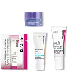 Receive a FREE Ready, Set, Glow! gift with any $89 StriVectin purchase. A $34 value! Get these travel sized minis for hydrated, radiant skin.