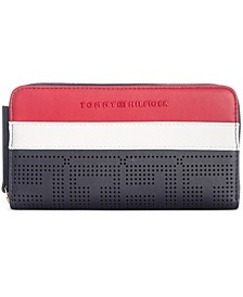Callie Perforated Zip Wallet