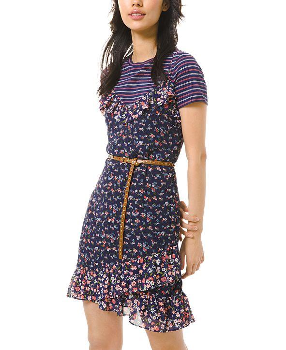 Michael Kors Garden Patch Printed Slip Dress